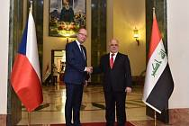 Premiér Bohuslav Sobotka (vlevo) a jeho irácký protějšek Hajdar Abádí.