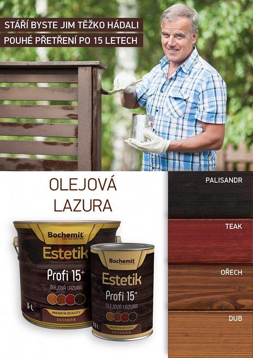 Bochemit Estetik Profi - první dlouholetý nátěr dřeva.