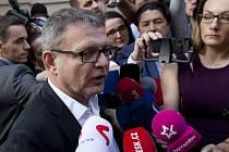 Volby 2017 - štáb ČSSD v Lidovém domě - Lubomír Zaorálek.