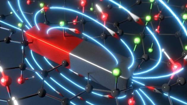 první nekovový magnet - schéma
