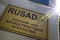 Ruská antidopingová agentura RUSADA v Moskvě.
