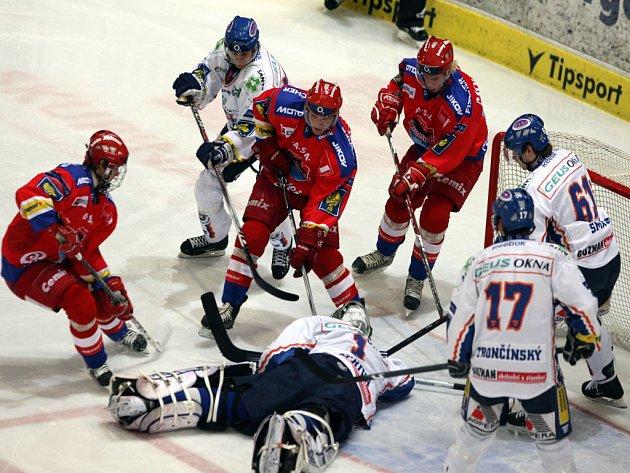 Hokejisté Budějovic porazili v zápase play out Kladno 3:1.