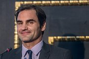 Roger Federer při návštěvě Prahy.