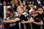 Radost fotbalistů Ajaxu