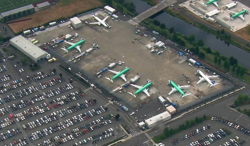 Odstavená letadla Boeing 737 MAX
