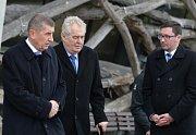 Prezident Miloš Zeman navštívil 28. dubna farmu Čapí hnízdo v Olbramovicích na Benešovsku