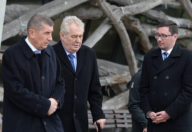 Prezident Miloš Zeman na farmě Čapí hnízdo v Olbramovicích na Benešovsku