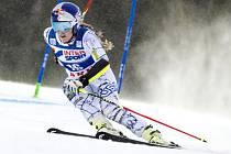Lindsey Vonnová v obřím slalomu SP v Aare.