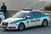 Vůz slovenské policie - ilustrační foto