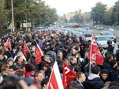 Generální stávka v ulicích Madridu