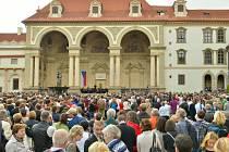 Loňský koncert ve Valdštejnské zahradě.