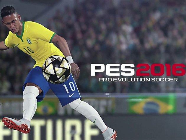 Počítačová hra Pro Evolution Soccer 2016.