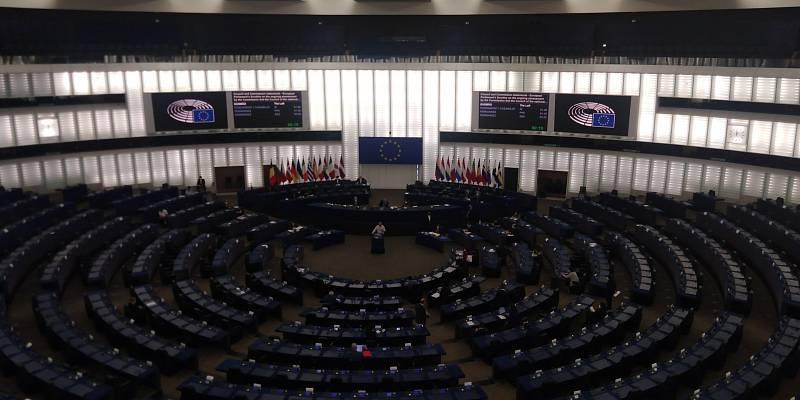 Sál Evropského parlamentu.