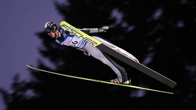 Roman Koudelka v závodu Světového poháru.