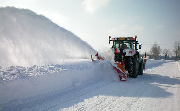 Metač sněhu na Poličsku