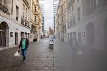 Osamělý chodec v Berlíně