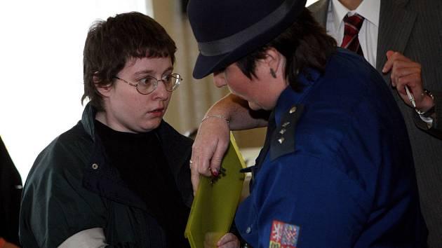 Barbora Škrlová před soudem