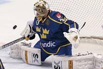 Švédský gólman Henrik Karlsson.