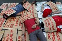 Protesty proti násilí na Filipínách