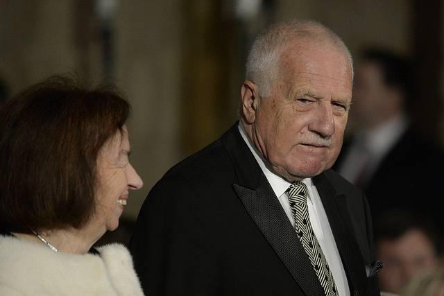 Václav Klaus se ženou Livií