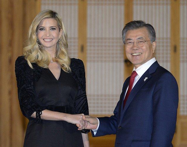 Ivanka Trumpová se sešla s jihokorejským prezidentem