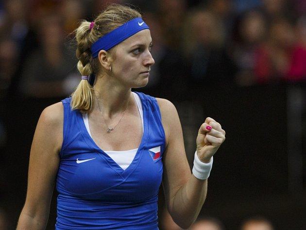 Petra Kvitová ve finále Fed Cupu.