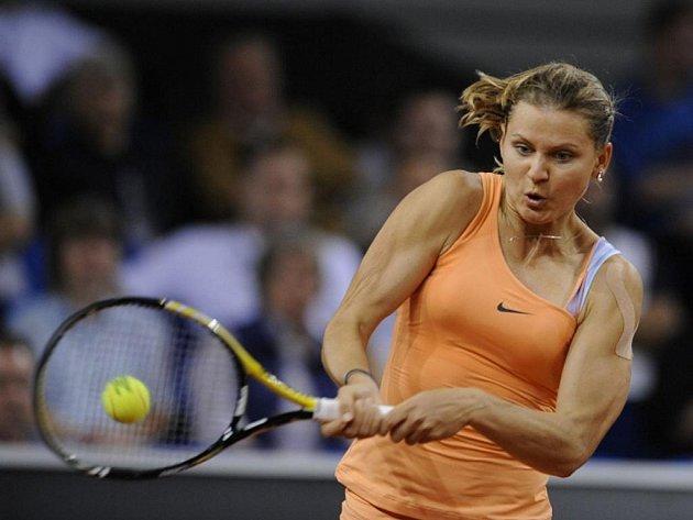 Lucie Šafářová na antukovém turnaji ve Stuttgartu.