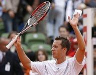 Tenista Philipp Kohlschreiber v Hamburku