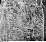 Letecký snímek Stalingradu