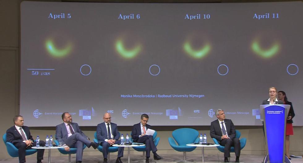 Postup skládání snímku černé díry