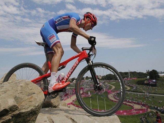 Biker Jaroslav Kulhavý na olympijských hrách v Londýně.