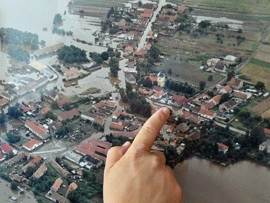 Zálezlice na leteckém snímku. Ilustrační foto
