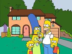 Animovaná rodina Simpsonových.