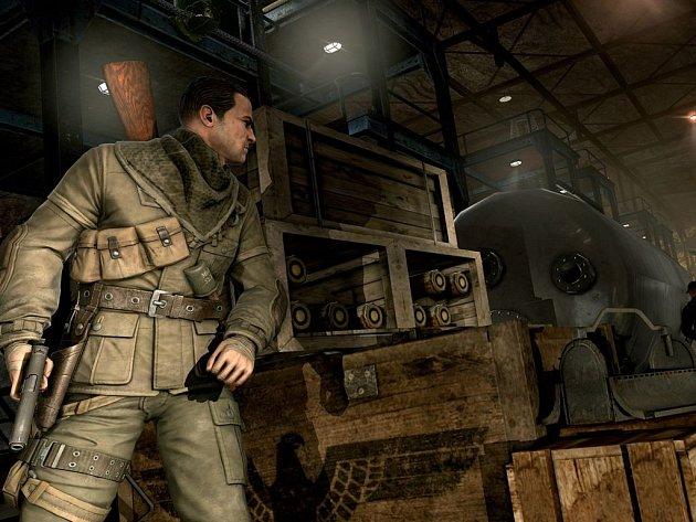 Počítačová hra Sniper Elite V2.