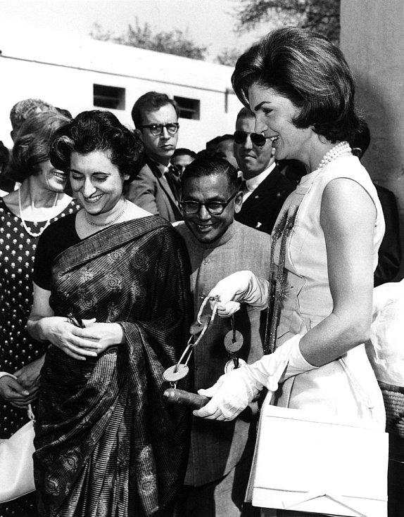 Indira Gándhiová s Jacqueline Kennedyovou