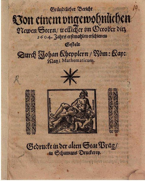 Spis Jana Keplera, jenž pojednává i o supernově nesoucí jeho jméno