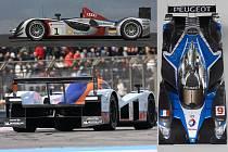 Aston Martin LMP1,  Audi R 15 TDi a Peugeot 908 HDi FAP jsou  největšími konkurenty v současném světě vytrvalostních závodů.