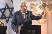 Miloš Zeman v Izraeli