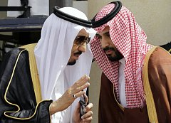 Současný král Salmán a korunní princ Muhammad