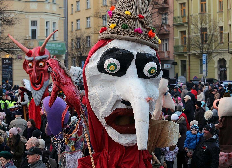 Žižkovský masopust 2018 - tradiční masopustní průvod z náměstí Jiřího z Poděbrad k Mahlerovým sadům.