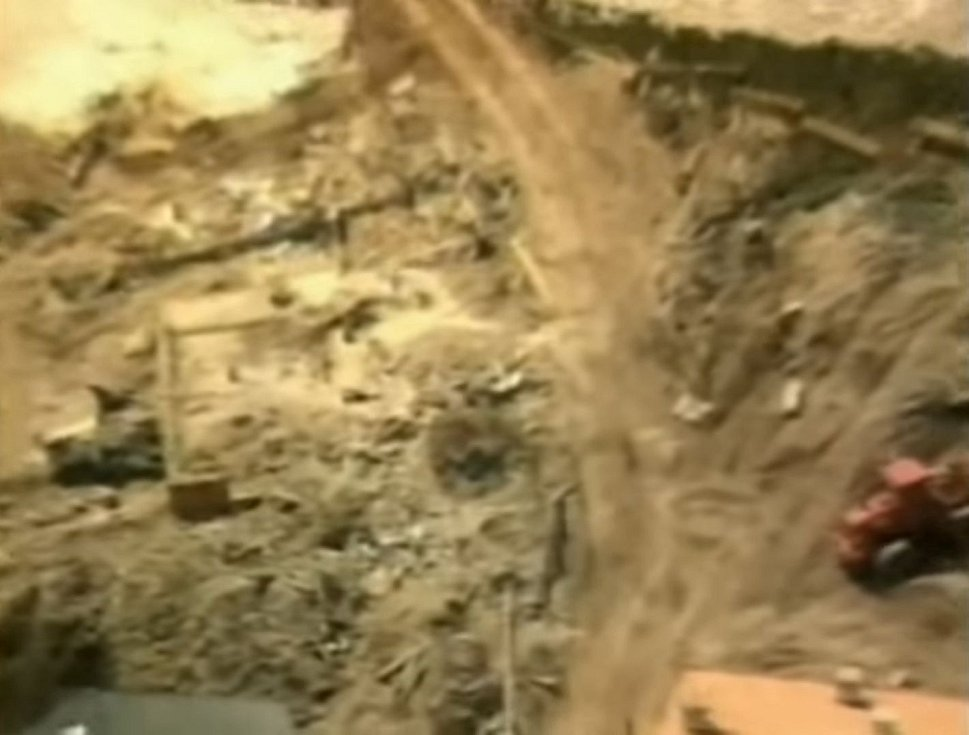 Celé údolí bylo zničeno