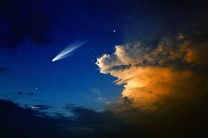 Kometa - ilustrační foto.