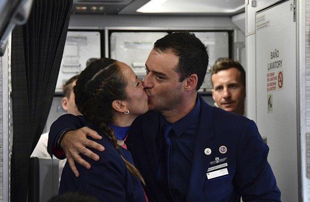 Svatba v letadle