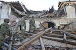 Následky zemětřesení ve městě Petrinja