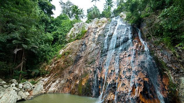 Vodopád na ostrově Koh Samui
