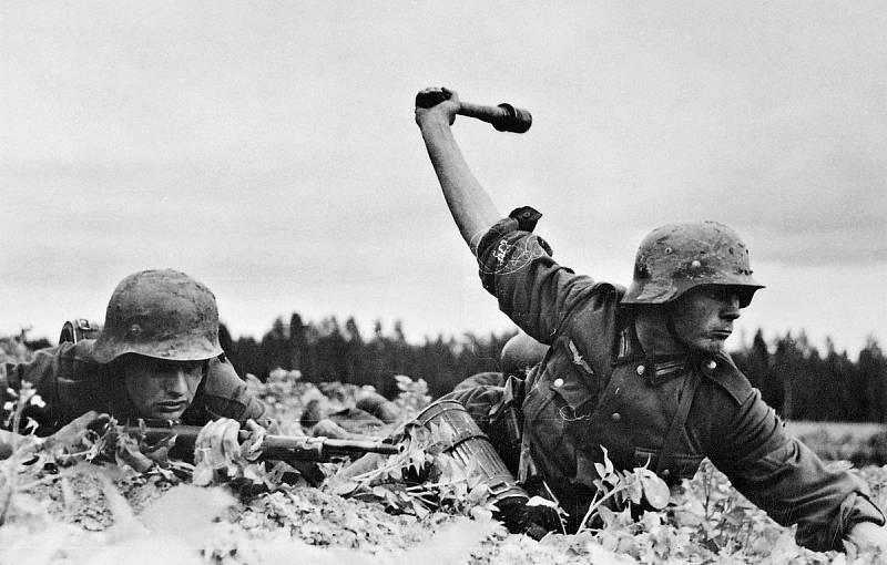 Němečtí pěšáci v Sovětském svazu při ofenzívě v roce 1941