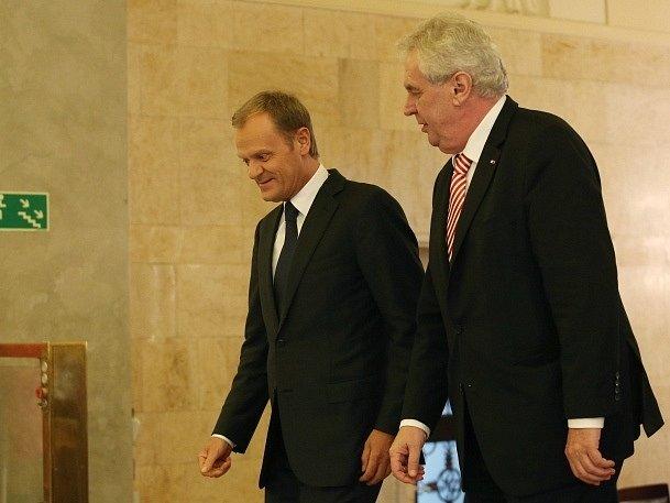 Donald Tusk a Miloš Zeman