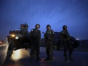 Hlídka ISAF v Kábulu.