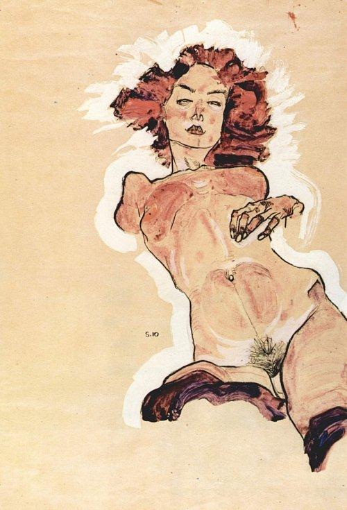 Egon Schiele: ženský akt