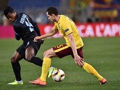 Lazio Řím - Sparta Praha: Balde Diao Keita a Mario Holek